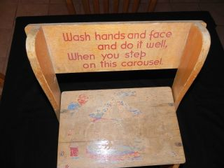 Vintage Child ' S Step Stool Chair photo