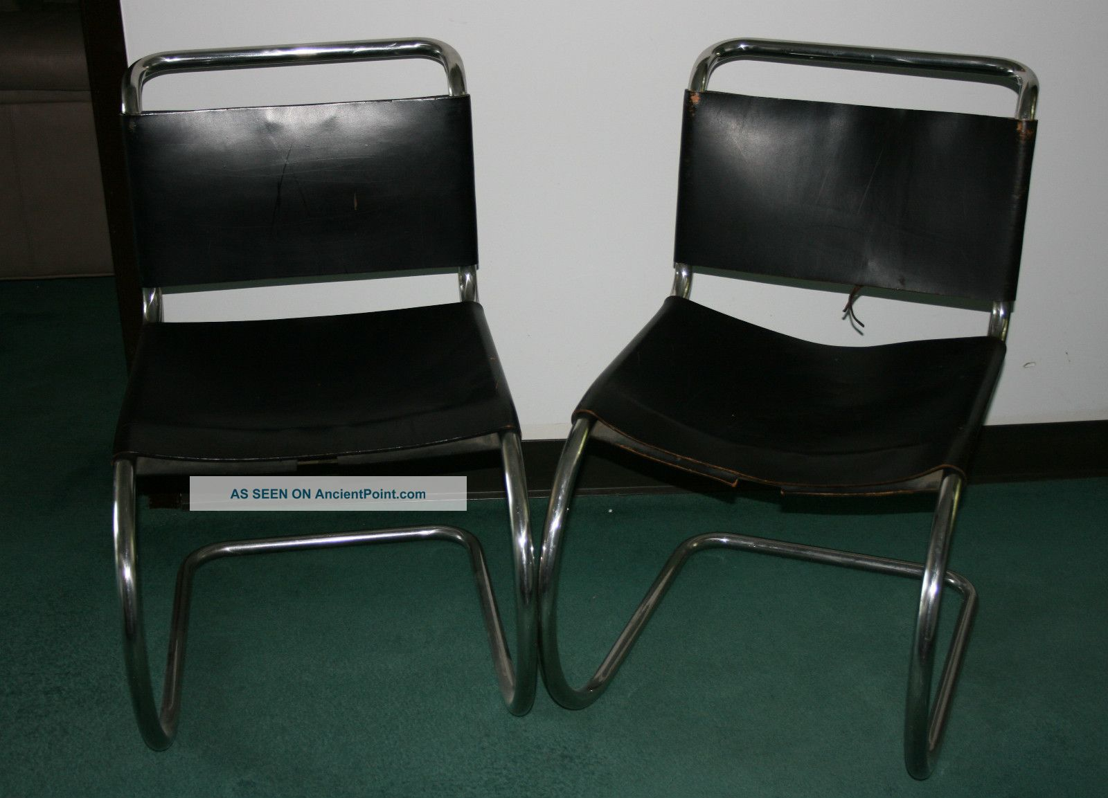 2 Knoll Mies Side Chairs With Laces Post-1950 photo