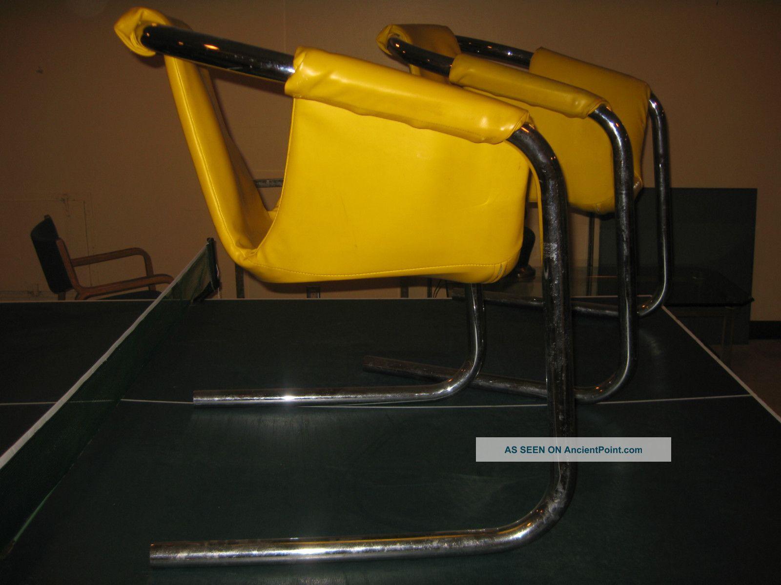 Mid Century Modern Milo Baugman Era Chrome Tube Sling Chairs 1970s Post-1950 photo