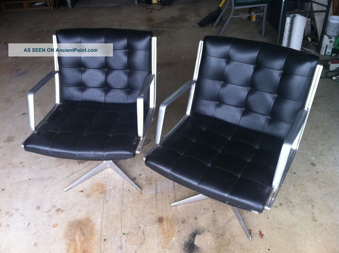 Burke Mid Century Chair Set (2) Home Or Office,  Like Eames,  Knoll 1950 ' S - 1960 ' S Post-1950 photo