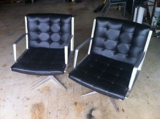 Burke Mid Century Chair Set (2) Home Or Office,  Like Eames,  Knoll 1950 ' S - 1960 ' S photo