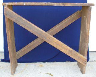 Primitive / Antique Wood Bench photo