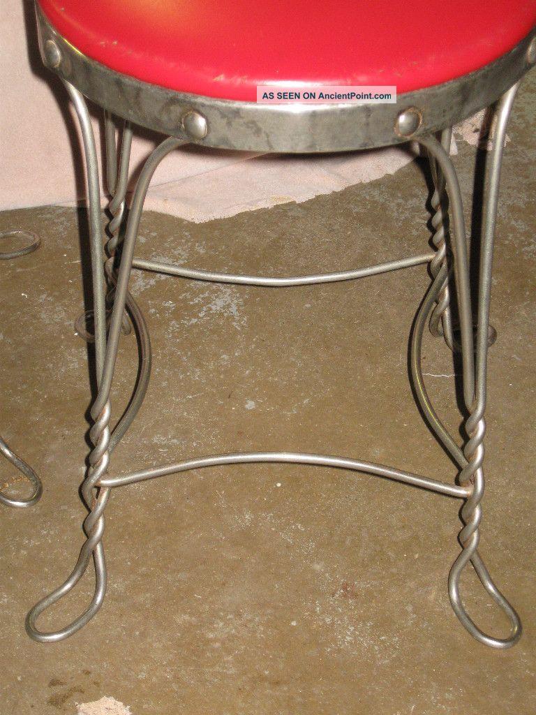 Antique Ice Cream Parlor Sweet Heart Chairs   Soda Fountain Coca Cola Coke  Malt