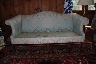 Vintage Sofa Chinese Chippendale Pennsylvania House Nds Reupholster photo