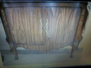Wood Commode Two Door Concave Sides,  48