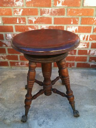 Claw Foot Stool,  Vintage photo