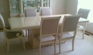 Dining Room Table And Matching Hutch photo