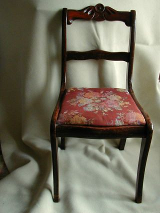 Vintage Solid Wood Carved Back Side Chair With Curved Back And Legs Elmira,  Ny photo