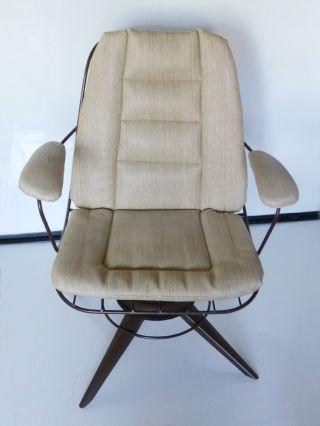 Berton Bottemiller Vintage ' 80s Homecrest Rocking Swivel Spring Chair Armchair photo