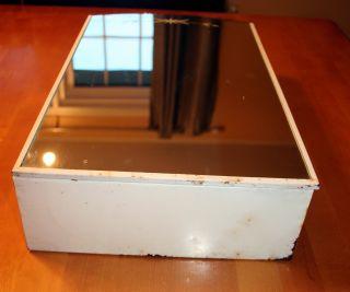 Antique Vintage Medicine Cabinet Metal With Mirror Door 1950 ' S photo