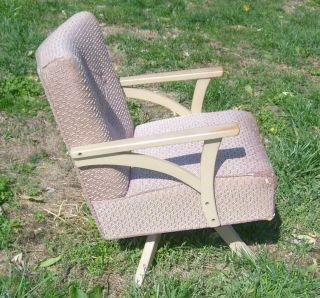 Vtg Antique Mid Century Swivel Rocker Side Lounge Chair 1950 ' S Retro Mod Eames photo