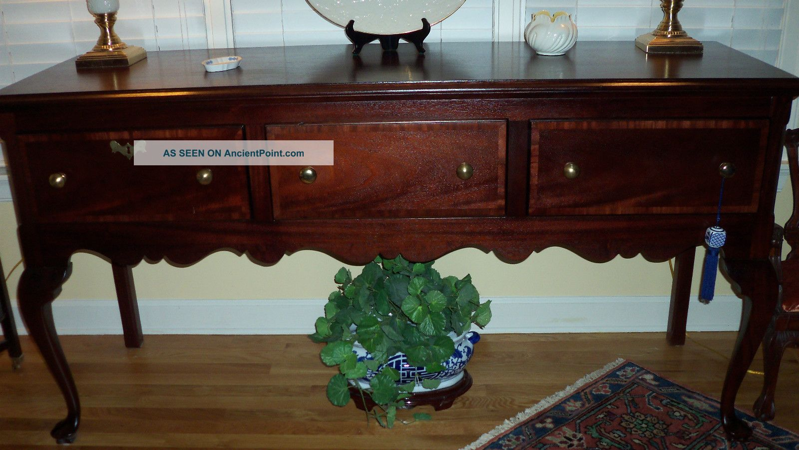 Solid/veneer Mahogany Huntboard/sideboard,  Custom Made,  Very Good To Excellent Post-1950 photo