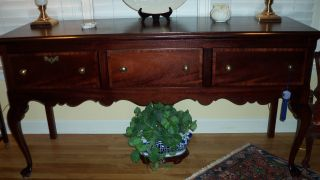 Solid/veneer Mahogany Huntboard/sideboard,  Custom Made,  Very Good To Excellent photo
