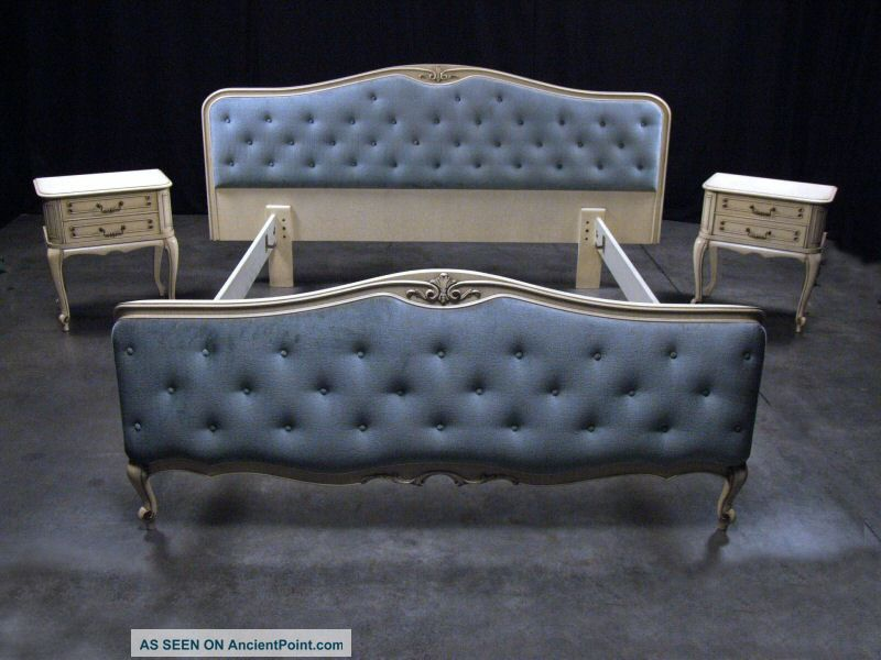 French Country Baroque Tufted Upholstered Queen Bed Frame 1940  $3400 800 x 600