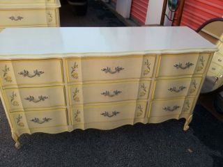 Gorgeous Vintage French Provincial Bedroom Set Good Condition Made By Dixie photo