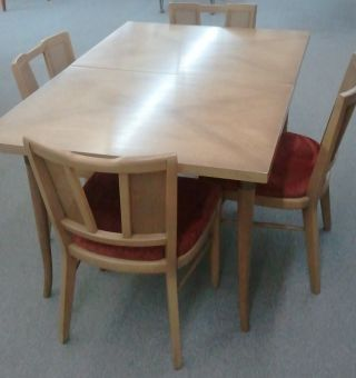 Mid Century Dining Table With 4 Chairs By American Of Martinsville photo