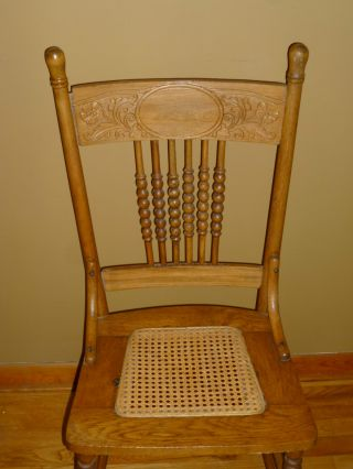 Vintage Maple Chair W/ Cane Seat - Primitive,  Rustic,  Country,  Shabby Wood Chair photo