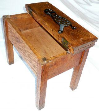 1940 ' S Shoe Shine Box / Table - Bronze Foot Rest - Perfect Decorative Accent photo