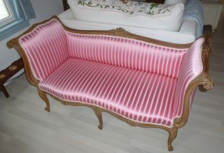 Antique French Settee 1930 photo
