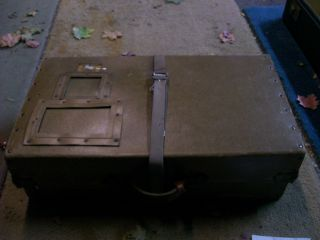 Antique Box Vintage Old Buggy Car Chest Luggage Carrier Auto Suitcase Linen Box photo