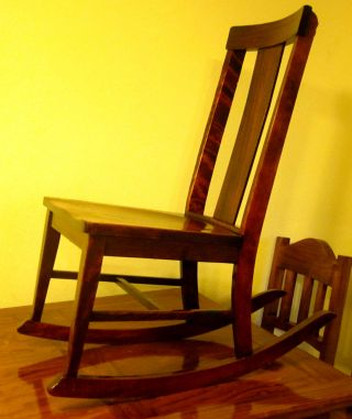Antique Wooden Rocking Chair photo