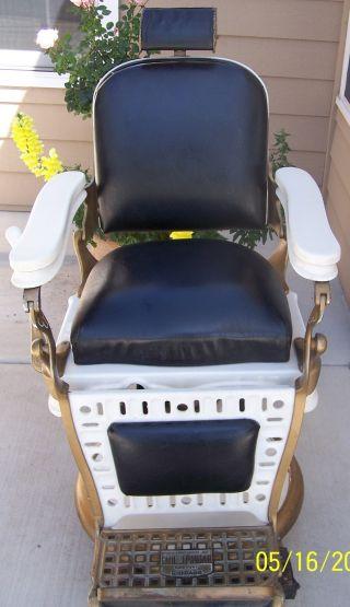 Antique Emil J.  Paidar Barbers Chair Ns527 1910 - 1920 photo