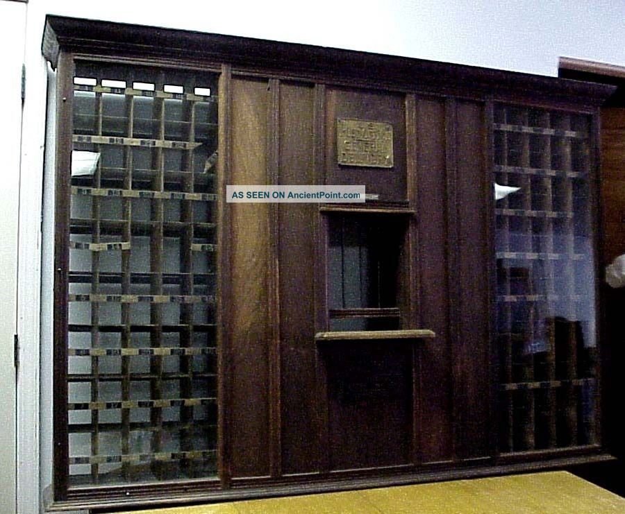 Antique General U S Post Office Front Desk Box Mail Sorter Wardsville Mo