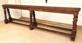 Rare Antique Country French Wood Saddle Bench C.  1900 ' S photo