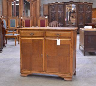 A30 : Oak European Belgium Cabinet Sideboard Console photo