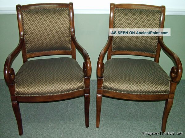 5859: Sherrill Set Of 2 Open Arm Accent Chairs Post-1950 photo