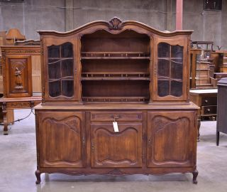 55323 - 1 : Antique Oak French Country Cabinet Buffet Sideboard photo