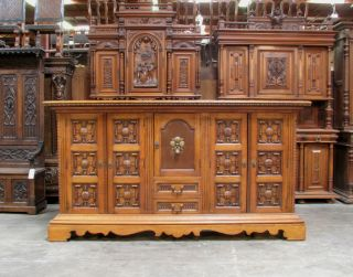 899 - 1 : Oak Spanish Style Sideboard Cabinet Buffet photo