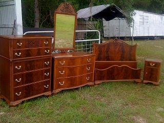 Mahogany Bedroom Set Complete Matching Set Will Accept Queen Size Breath Taking photo