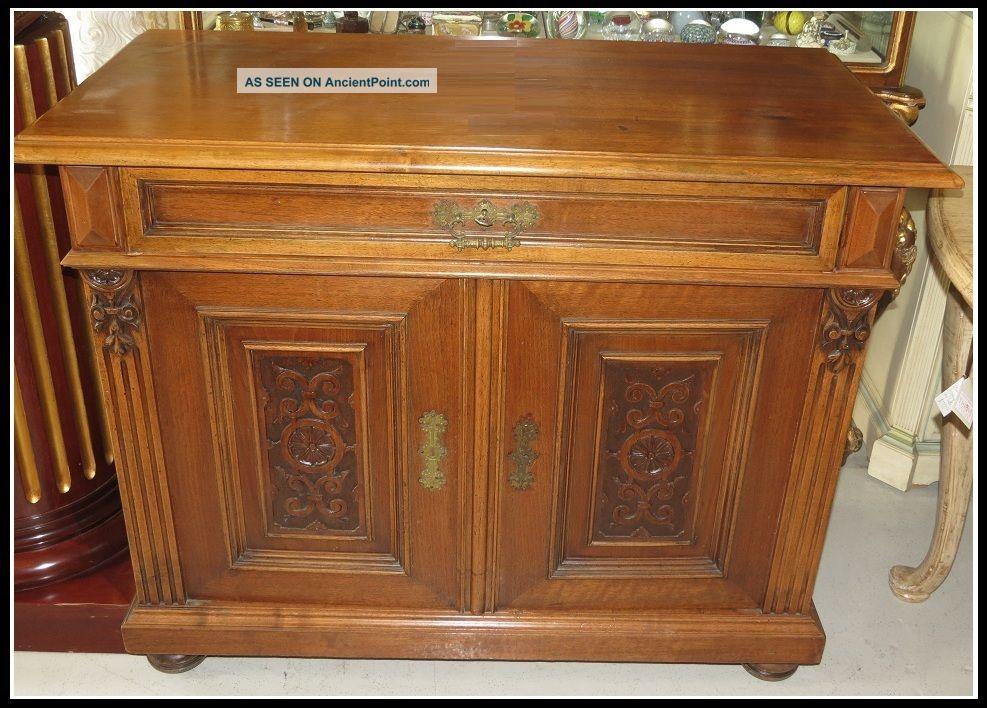 Unusual Antique English Sideboard Buffet Nr 1800-1899 photo