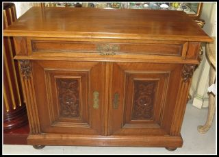 Unusual Antique English Sideboard Buffet Nr photo