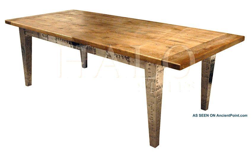 Dining Table Aluminum Clad Dining Table : antiqueweatheredoakdiningtablewaluminumcladbase8longnew1lgw from choicediningtable.blogspot.com size 850 x 524 jpeg 42kB