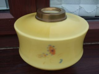 Victorian Yellow Glass Oil Lamp Font photo