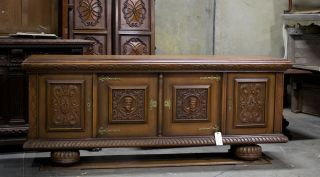 40016 - 2 : European Antique Sideboard Buffet Cabinet photo