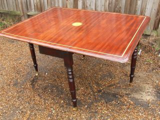 Regency.  Drop Leaf Dining Table,  Seats 6 Persons.  C1810 - 1830. photo