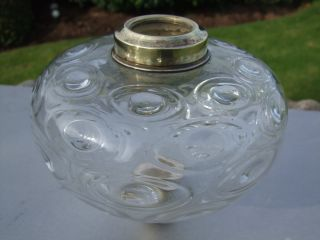 Victorian Clear Glass Oil Lamp Font photo