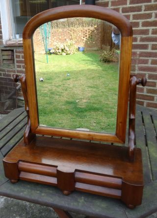 William Iv.  Walnut Dressing Table Mirror With Two Drawers.  C1830 - 1840. photo