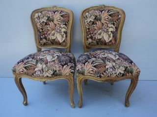 Pair Of Antique French Louis Xv Chairs 08208 photo