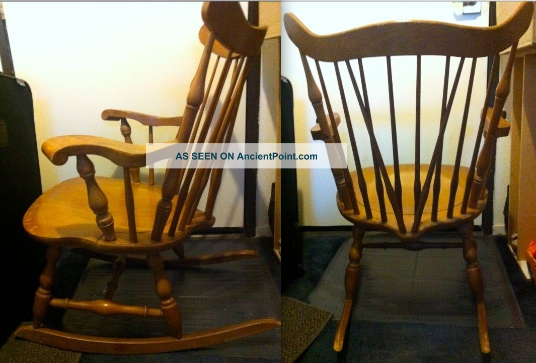 Authentic Vintage Wooden Rocker Rocking Chair Eames Heywood Wakefield Japan - Made Post-1950 photo