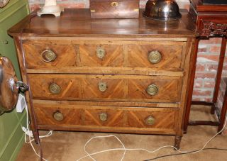 Cr 1800 Swedish Beidermeier/directoire Commode W/fruitwood Marquetry photo