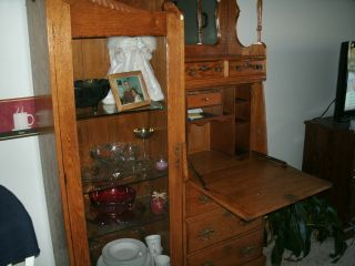 Antique Oak Secretary photo