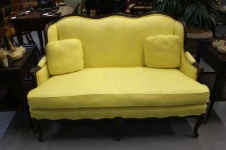 Henredon Yellow Loveseat photo