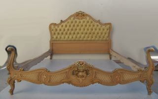 French Louis Xv Patinated Full Bed 08699 photo