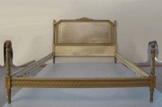 French Louis Xvi Patinated Full Bed 08700 photo