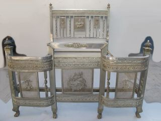 Great Antique French Bronze Full Bed 08774 photo