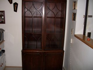 Antique Dark Wood Hutch Local Pick Up photo